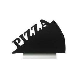 Доска-меню ПИЦЦА L 25см w 34см, цвет черный. Маркер и алюминиевая подставка в комплекте.