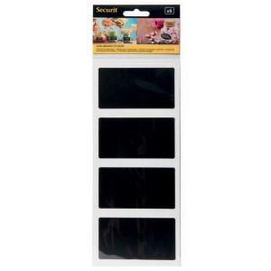 Карточка-меню L 8,5см w 5см ПРЯМОУГОЛЬНИК (набор 8шт), пластик черный