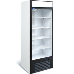 Шкаф холодильный,  700л, 1 дверь стекло, 4 полки, ножки, 0/+7С, дин.охл., белый, агрегат нижний, канапе