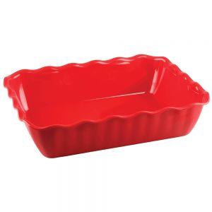 Салатник L 26см, W 17,5см, H 8см, пластик, красный