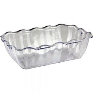 Салатник L 26см, W 17,5см, H 8см, пластик, прозрачный