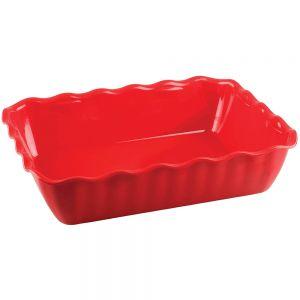 Салатник L 33см, W 26,5см, H 8см, пластик, красный