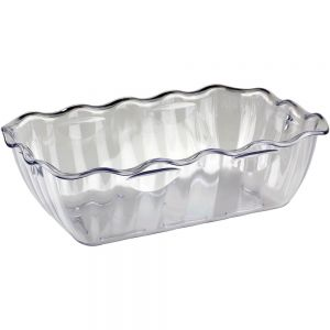 Салатник L 33см, W 26,5см, H 8см, пластик, прозрачный