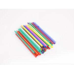 Трубочки для напитков с гофрой D 8мм L 240мм пластик цветные, 500шт