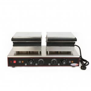 Вафельница электрическая настольная для вафель «бельгийских», 2 поверхности квадратные чугун, 8 сегментов, упр.электромех., таймер