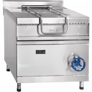 Сковорода газовая опрокидываемая,  40л, ручное опрокидывание, нерж.сталь, серия 900, газ-контроль
