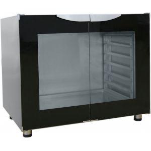 Шкаф расстоечный, 12х(400х600), 2 двери распашные стекло, +30/+85С, нерж.сталь., 220V, ножки, электромех.упр., увлажнение
