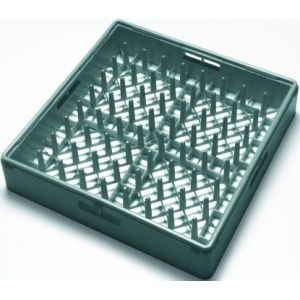 Корзина посудомоечная для тарелок, 500х500мм, пластик зелёный, вместимость 18 штук