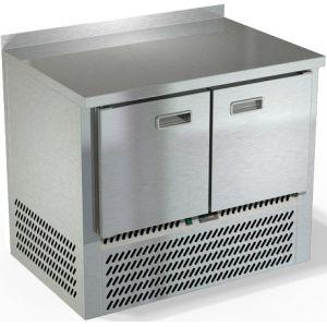 Стол холодильный, GN1/1, L1.00м, борт H50мм, 2 двери глухие, ножки, -2/+10С, нерж.сталь, дин.охл., агрегат нижний
