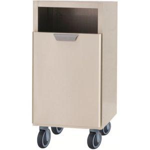 Модуль барный нейтральный для мусора,  400х550х860мм, без столешницы, 1 ящик выдв., ролики, нерж.сталь