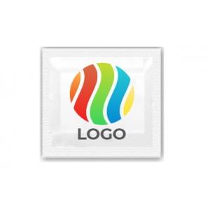 Салфетка влажная одноразовая в индивидуальной упаковке 60х60мм с ЛОГОТИПОМ