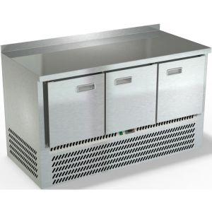 Стол морозильный, GN1/1, L1.49м, борт H50мм, 3 двери, ножки, -10/-18С, нерж.сталь, дин.охл., агрегат нижний