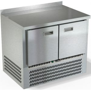 Стол морозильный, GN1/1, L1.00м, борт H50мм, 2 двери глухие, ножки, -10/-18С, нерж.сталь, дин.охл., агрегат нижний