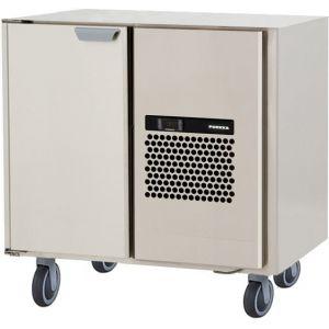 Стол морозильный, GN1/1, L0.86м, без столешницы, 1 дверь глухая, ролики, -15/-25С, нерж.сталь, дин.охл., агрегат справа