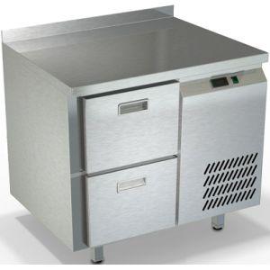 Стол холодильный, GN1/1, L0.90м, борт H50мм, 2 ящика, ножки, -2/+10С, нерж.сталь, дин.охл., агрегат справа