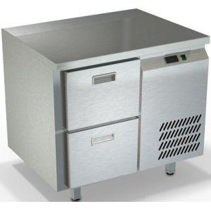 Стол морозильный, GN2/3, L0.90м, без борта, 2 ящика, ножки, -10/-18С, нерж.сталь, дин.охл., агрегат справа