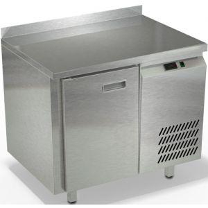 Стол морозильный, GN1/1, L0.90м, борт H50мм, 1 дверь глухая, ножки, -10/-18С, нерж.сталь, дин.охл., агрегат справа