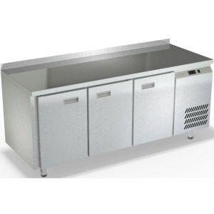Стол морозильный, GN1/1, L1.84м, борт H50мм, 3 двери глухие, ножки, -10/-18С, нерж.сталь, дин.охл., агрегат справа