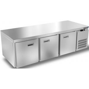 Стол холодильный низкий, GN1/1, L1.84м, без борта, 3 двери глухие, ножки, -2/+10С, нерж.сталь, дин.охл., агрегат справа