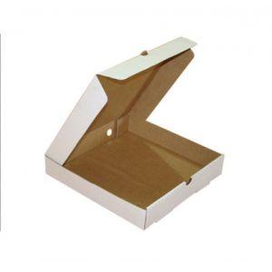 Коробка для пиццы 270х270х40мм картон белый