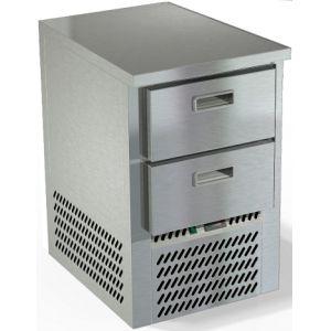 Стол морозильный, GN2/3, L0,57м, без борта, 2 ящика, ножки, -10/-18С, нерж.сталь, дин.охл., агрегат нижний