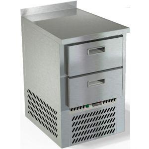 Стол морозильный, GN2/3, L0,57м, борт H50мм, 2 ящика, ножки, -10/-18С, нерж.сталь, дин.охл., агрегат нижний