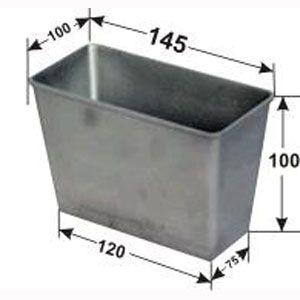 Форма для выпечки хлеба L 14,5см w 10см h 10см 350-450г 5 секций с ручками, алюминий (б/у (бывший в употреблении))