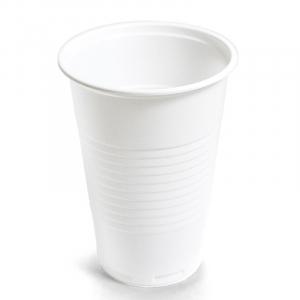 Стакан 200мл пластик белый