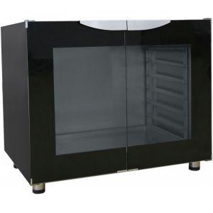 Шкаф расстоечный, 12х(400х600), 2 двери распашные стекло, +30/+85С, эмалир., 220V, ножки, электромех.упр., увлажнение