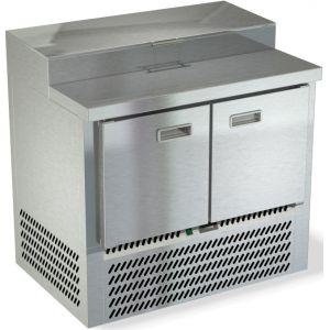 Стол холодильный для пиццы, GN1/1, L1.00м, 2 двери глухие, ножки, +2/+10С, нерж.сталь, дин.охл., агрегат нижний, короб 5GN1/3