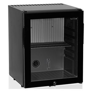 Шкаф холодильный д/напитков (минибар),  32л, 1 дверь стекло, 1 полка, ножки, +5/+12С, абсорбционное охл., чёрный