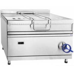 Сковорода газовая опрокидываемая, 120л, ручное опрокидывание, нерж.сталь, серия 900, газ-контроль