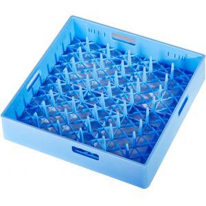 Корзина посудомоечная для тарелок, 500х500мм, пластик синий