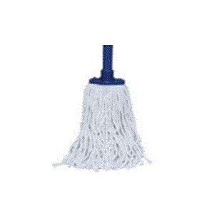 Швабра h 116,8см для влажной уборки веревочная с рукоятью, цвет белый