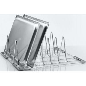 Вставка в посудомоечную корзину для противней и подносов для машин посудомечных UF-M, UF-L, UF-XL, 6 рядов, нерж.сталь