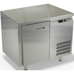 Стол морозильный, GN1/1, L0.90м, без борта, 1 дверь глухая, ножки, -10/-18С, нерж.сталь, дин.охл., агрегат справа