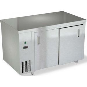 Стол тепловой раздаточный, 1100х700х850мм, без борта, закрытый, двери-купе, нерж.сталь 304, задняя стенка нерж.сталь 430