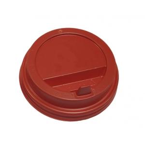 Крышка для стакана 400мл и 300мл D 90мм пластик красный с носиком