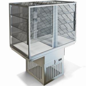 Витрина холодильная, встраив., 3 полки, закрытая, 0.55куб.м, +1/+10С, агрегат Danfoss