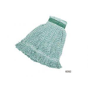 Моп для влажной уборки веревочная MEDIUM универсальный, цвет зелено-белый