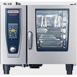 Пароконвектомат газовый бойлерный,  6GN1/1, электронное управление, щуп, душ, автоматическая очистка CareControl, сигнализация поур., магистр.газ