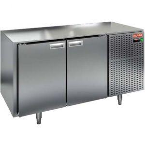Стол морозильный, GN1/1, L1.39м, без столешницы, 2 двери глухие, ножки, -10/-18С, нерж.сталь, дин.охл., агрегат справа