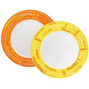 Тарелка 230мм Fiesta круглая рифленая ламинированная бумага