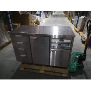 Стол тепловой раздаточный, 1260х650х850мм, без борта, закрытый, двери распашные, ящики, нерж.сталь, ножки, поверхность подогреваемая, увлажнение (Уцен