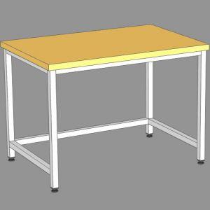 SSKs-120/8 - стол кондитерский сварной., б/борта, б/полки, бук.столеш.
