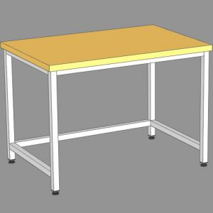 SSKs-150/8 - стол кондитерский сварной., б/борта, б/полки, бук.столеш.
