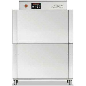 Машина посудомоечная конвейерная, 500х500мм,  70-100кор/ч, реверсивная, правая, теп.вода, доз.опол.+моющ.