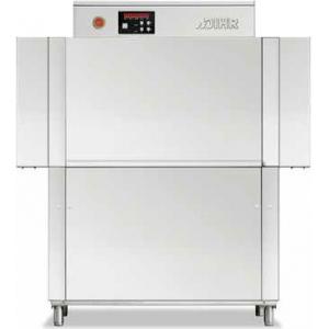 Машина посудомоечная конвейерная, 500х500мм,  70-100кор/ч, реверсивная, левая, гор.вода, доз.опол.+моющ., защита от брызг с 2-х сторон