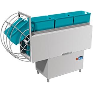 Машина посудомоечная конвейерная для корзин 510х500мм, 1.5-2.0м/мин, левая, гор.вода, доз.опол.+моющ., защита от брызг, верхняя загрузка