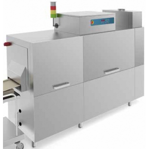 Машина посудомоечная конвейерная для подносов GN1/1, 8.4-13.1м/мин, правая, хол.вода, без дозаторов, сушка 6кВт, рекуператор